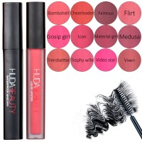 Набор помады с тушью Huda Beauty lip gloss mascara combination 2 in 1