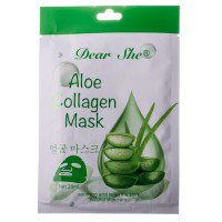 Маска для лица Dear She 1032 aloe collagen mask